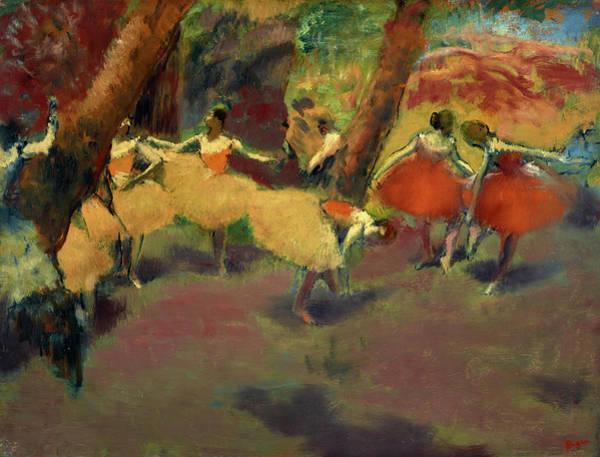 Edgar Degas Painting - Before The Performance, 1898 by Edgar Degas