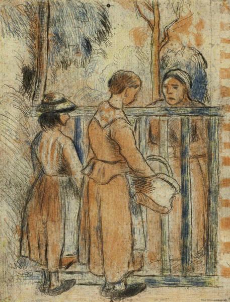 Wall Art - Relief - Beggar Women by Camille Pissarro