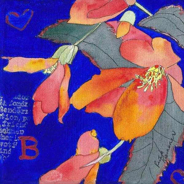 Painting - Begonias by Ruth Kamenev