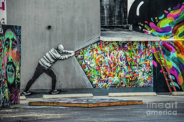 Wynwood Photograph - Behind The Curtain by Matthew DeFrenza