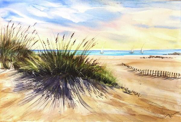 Painting - Behind The Dunes  by Katerina Kovatcheva