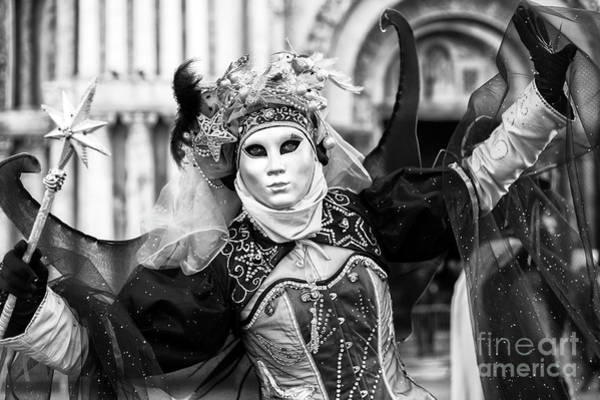 Photograph - Behold The Carnival Model In Venice by John Rizzuto
