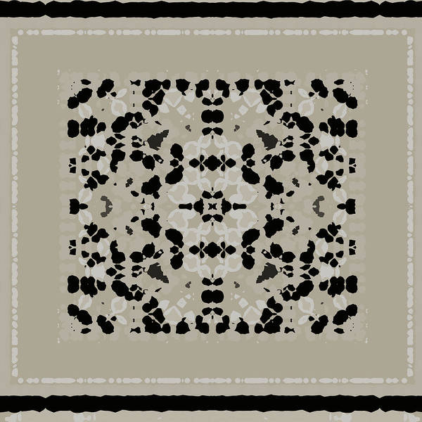 Digital Art - Beige Black Pattern by Judi Suni Hall
