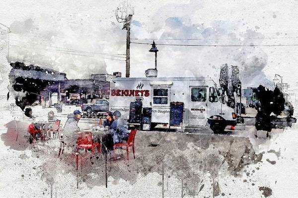 Photograph - Beignets Watercolor V2 by Michael Thomas