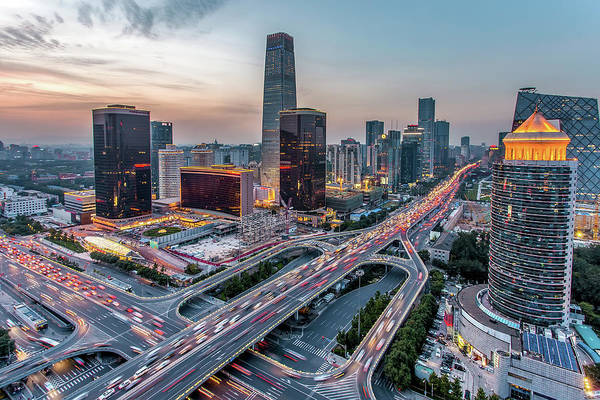 China Photograph - Beijing Central Business District by Dukai Photographer