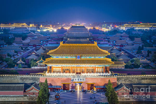 Dusk Wall Art - Photograph - Beijing, China At The Imperial City by Esb Professional