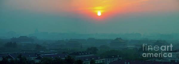 Wall Art - Photograph - Beijing Forbidden City Sunset Panorama by Mike Reid