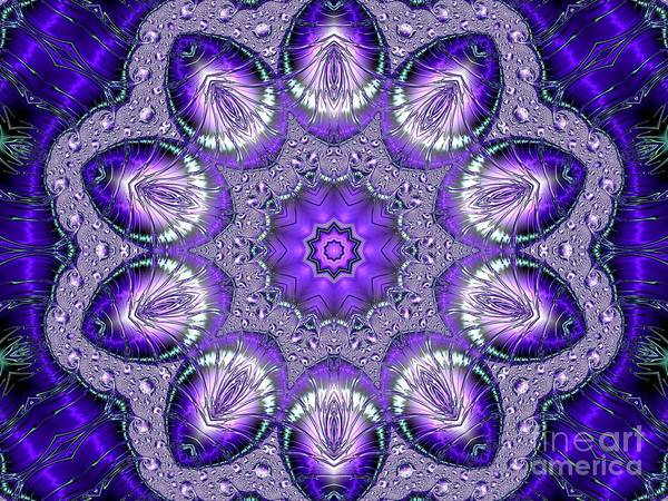 Digital Art - Bejeweled Easter Eggs Fractal Abstract by Rose Santuci-Sofranko