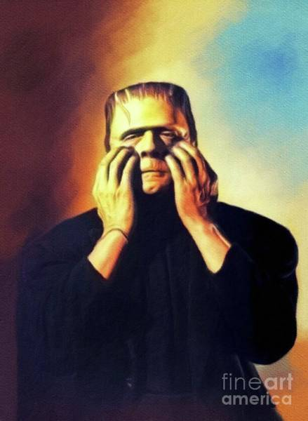 Wall Art - Painting - Bela Lugosi As Frankenstein by John Springfield