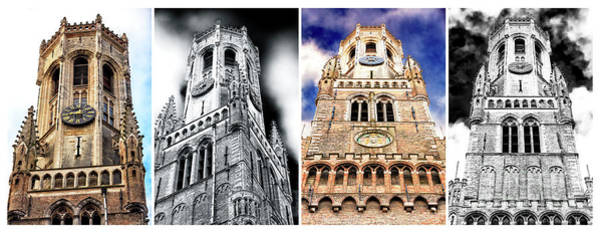 Wall Art - Photograph - Belfry Of Bruges Quadriptych by John Rizzuto