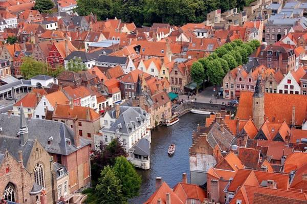 Belgium Photograph - Belgium, Brugge, Cityscape by Deborah Lynn Guber