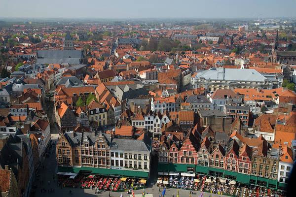 Belgium Photograph - Belgium, Flanders, Bruges, Cityscape by Darrell Gulin