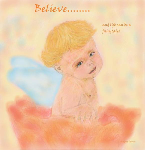 Painting - Believe by Angela Davies