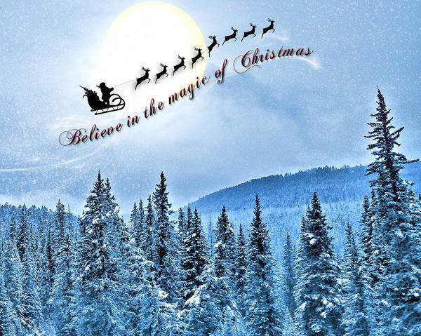 Digital Art - Believe In Christmas by Susan Kinney