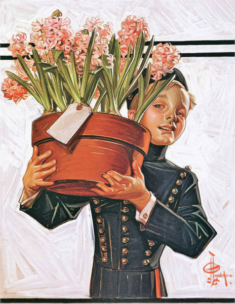 Wall Art - Painting - Bell Boy With Hyacinth - Digital Remastered Edition by Joseph Christian Leyendecker