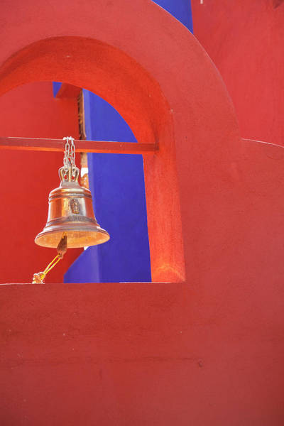 Wall Art - Photograph - Bell In Red Church Steeple by Dennis Walton
