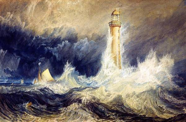 Cruiser Painting - Bell Rock Lighthouse - Digital Remastered Edition by William Turner