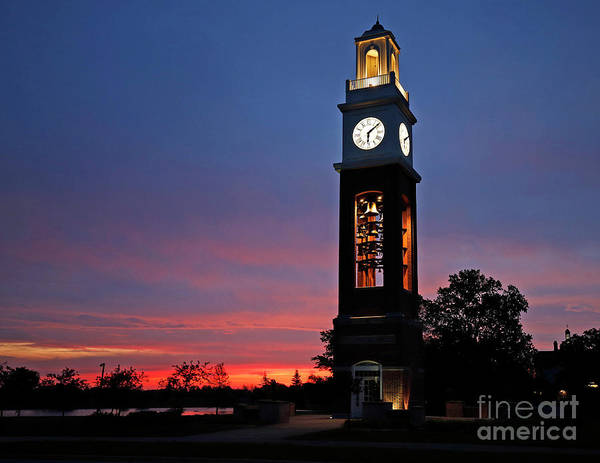 Wall Art - Photograph - Bell Tower At Coxhall Gardens Carmel, Indiana by Steve Gass