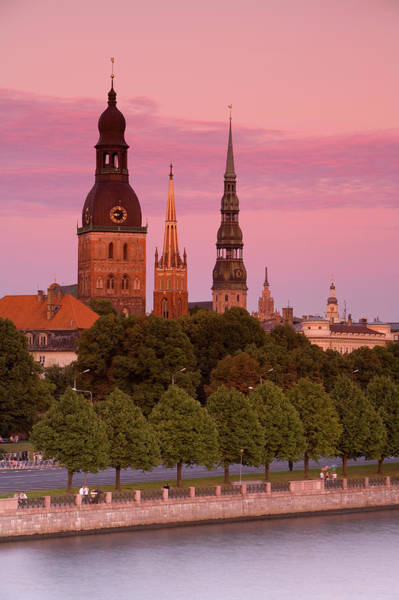 Christianity Photograph - Bell Towers And Spires In Rigas Old Town by Douglas Pearson