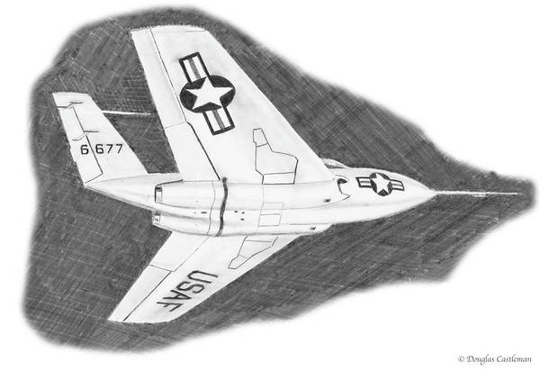 Drawing - Bell X-4 by Douglas Castleman