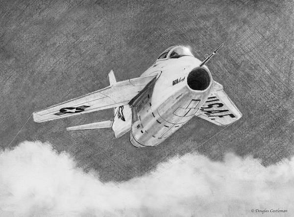Drawing - Bell X-5 by Douglas Castleman