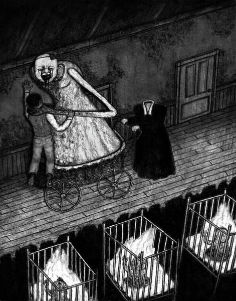Drawing - Bella The Nightmare Carriage - Artwork by Ryan Nieves