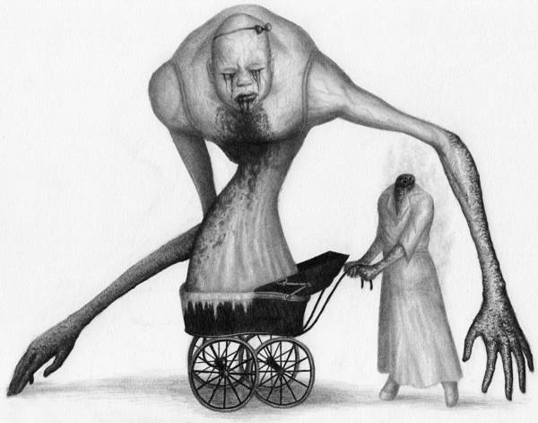 Drawing - Bella The Nightmare Carriage Updated - Artwork by Ryan Nieves