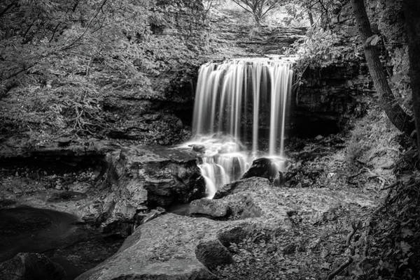 Wall Art - Photograph - Bella Vista Arkansas Tanyard Falls - Monochrome Edition by Gregory Ballos