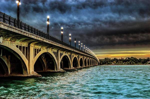 Photograph - Belle Isle Bridge  V2 Dsc_0848 by Michael Thomas