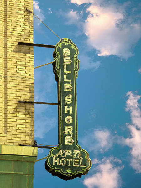 Wall Art - Photograph - Belle Of Chicago Belle Shore Apt Hotel by William Dey