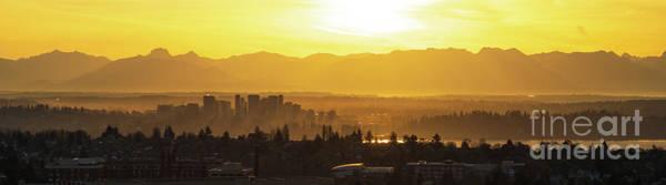Wall Art - Photograph - Bellevue Eastside Morning Light Atmosphere by Mike Reid