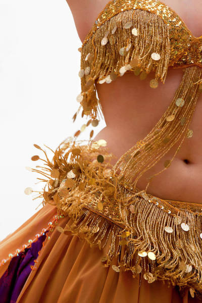 Belly Dancers Photograph - Belly Dancer In Golden Dress by Barbara Abate