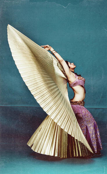 Belly Dancers Photograph - Belly Dancer With Gold Wings, Side View by Amy Guip