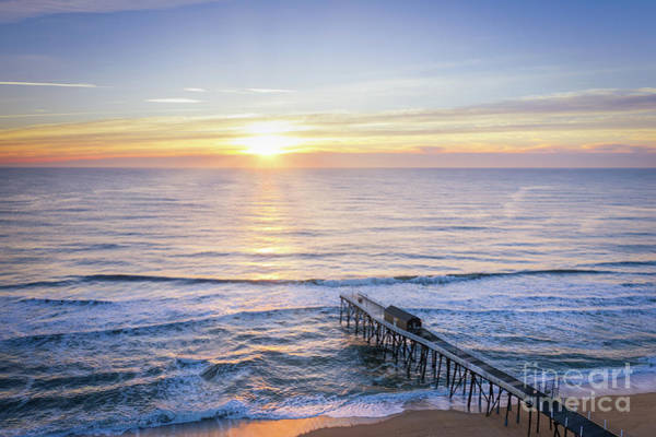 Photograph - Belmar Fishing Pier At Sunrise  by Michael Ver Sprill