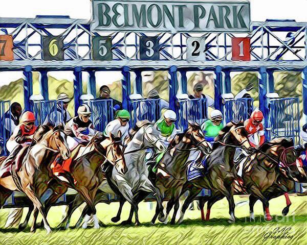 Belmont Park Starting Gate 1 Art Print