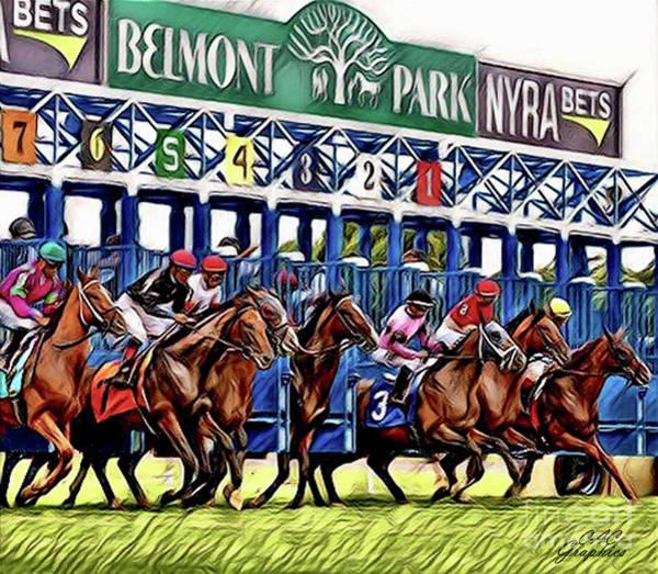 Belmont Park Starting Gate 2 Art Print