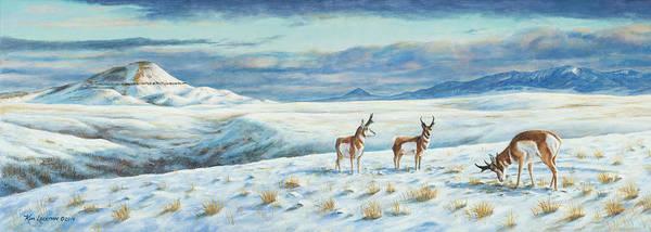 Painting - Belt Butte Winter by Kim Lockman