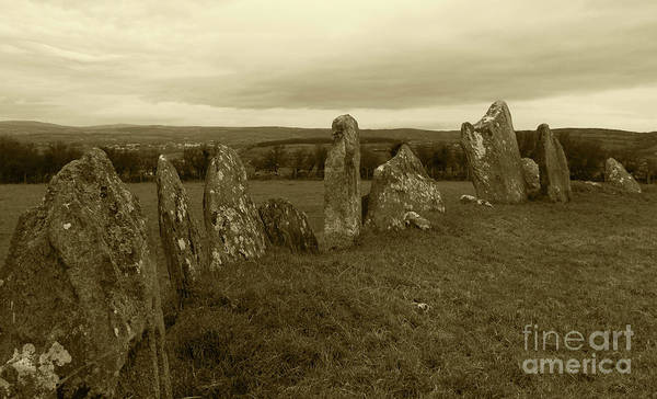 Wall Art - Photograph - Beltany Stone Circle Donegal Tint by Eddie Barron