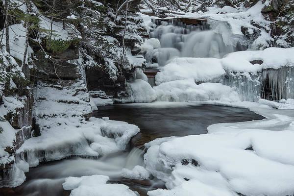 Bemis Photograph - Bemis Brook Falls Winter by Chris Whiton