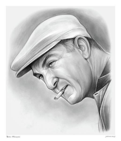 Drawing - Ben Hogan by Greg Joens
