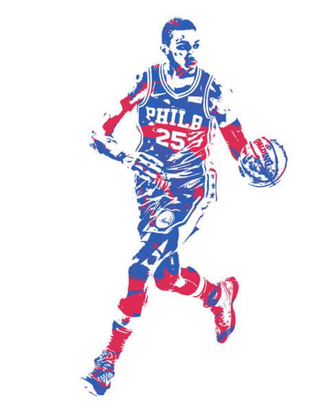 Wall Art - Mixed Media - Ben Simmons Philadelphia 76ers Pixel Art 50 by Joe Hamilton