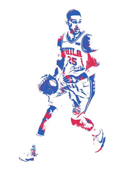 Wall Art - Mixed Media - Ben Simmons Philadelphia 76ers Pixel Art 51 by Joe Hamilton
