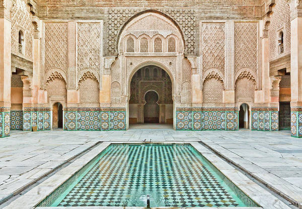Mosque Photograph - Ben Youssef Madrasa by (c) Thanachai Wachiraworakam