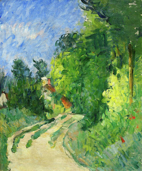 Wall Art - Painting - Bend In The Road Through The Forest - Digital Remastered Edition by Paul Cezanne