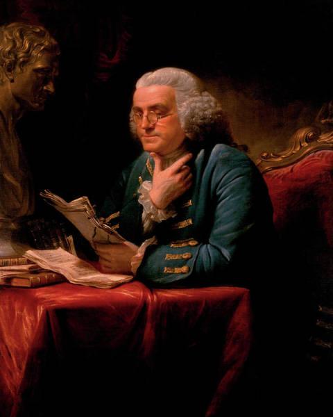 Vice Painting - Benjamin Franklin, 1767 by David Martin