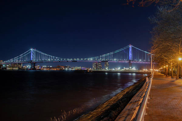 Wall Art - Photograph - Benjamin Franklin Bridge From Camden New Jersey by Bill Cannon