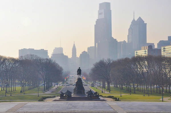 Wall Art - Photograph - Benjamin Franklin Parkway In The Morn by Bill Cannon