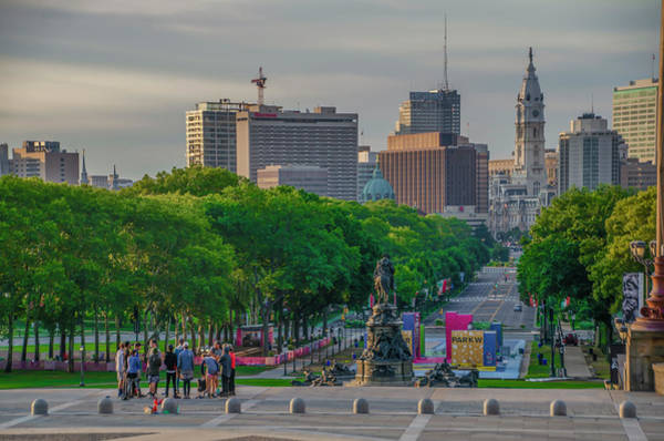 Wall Art - Photograph - Benjamin Franklin Parkway In The Morning - Philadelphia by Bill Cannon