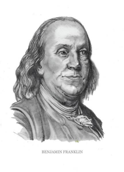 Drawing - Benjamin Frankline  by Joan Garcia