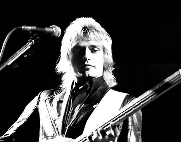 Wall Art - Digital Art - Benjamin Orr Of The Cars In Concert by Daniel Hagerman